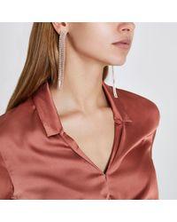 River Island | Multicolor Rose Gold Tone Multi Strand Dangle Earrings | Lyst