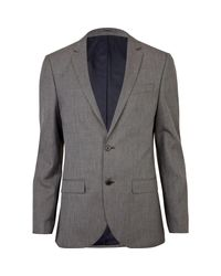 River Island Gray Slim Suit Jacket for men