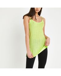 River Island Light Green Ribbed Cami Top