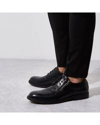 River Island Black Zip Lace-up Formal Shoes for men