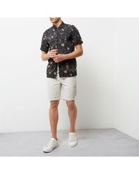 River Island Multicolor Stone Slim Fit Chino Shorts for men