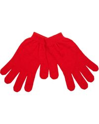 River Island Red Classic Knit Gloves for men