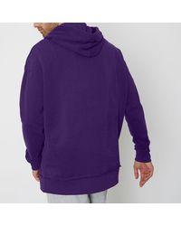 River Island Purple Oversized Hoodie Purple Oversized Hoodie for men