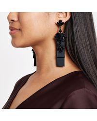 River Island - Black Jewel Drop Statement Earring - Lyst