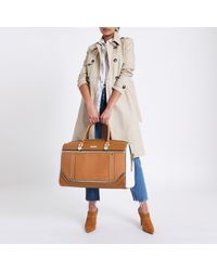 River Island Natural Beige Cutabout Holdall