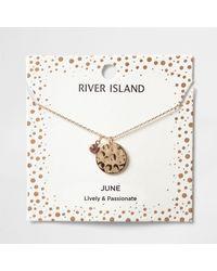River Island - Light Purple June Birthstone Necklace - Lyst