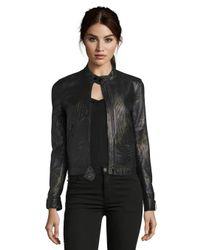 Robert Graham Black Joy Leather Jacket