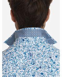Robert Graham Blue Garland Sport Shirt for men