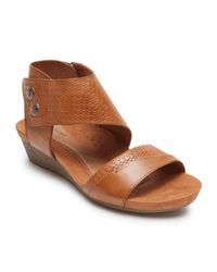 Rockport Brown Cobb Hill Hollywood Cuff Sandal