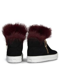 Roger Vivier Black Sneaky Viv High-top Sneaker With Fur