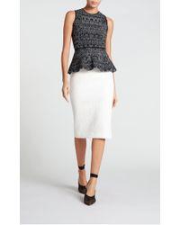 11ad84f5c4 Roland Mouret Arreton Skirt in White - Lyst