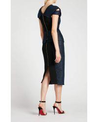 Roland Mouret Blue Turnley Skirt