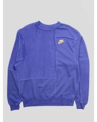 Nike Blue W Nsw Icon Clash Crew Fleece