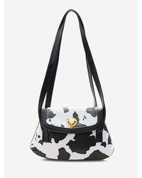 Rosegal Black Cow Print Double Strap Shoulder Bag