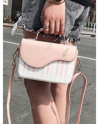 Rosegal Pink Piano Pattern Cover Rectangle Crossbody Bag
