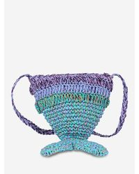 Rosegal Green Mermaid Tail Woven Crossbody Bag