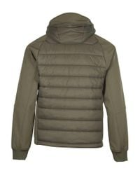 C P Company Green Goggle Hood Padded Jacket for men