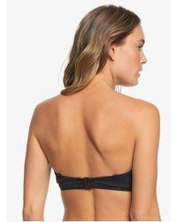 Roxy Black Moulded Bandeau D-cup Bikini Top