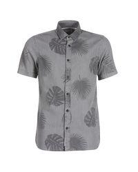 Only & Sons Gray Onssimon Short Sleeved Shirt for men