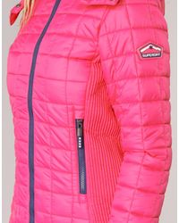 Superdry Pink Fuji Box Quilted Jacket