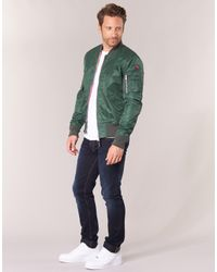 Schott Nyc Bomber By Men's Jacket In Green for men