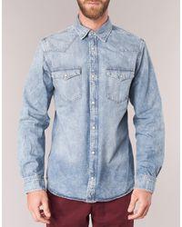 Jack & Jones Blue Denim Shirt Long Sleeved Shirt for men