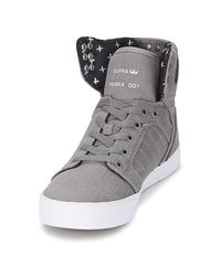 Supra Gray Skytop Shoes (high-top Trainers)