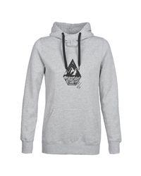 Volcom Gray Costus P/over Fleece Sweatshirt