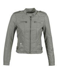 Vero Moda Gray Houston Leather Jacket