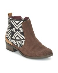 Desigual Brown Boho Mid Boots