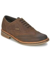 Barbour Brown Redcar Oxford Brogue Casual Shoes for men