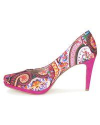 Tamaris - Pink Rireton Court Shoes - Lyst