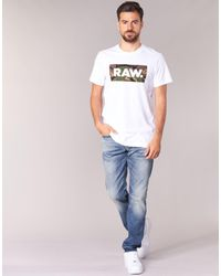 G-Star RAW Blue 3301 Tapered Jeans for men