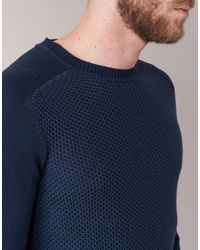 Chevignon - Blue Pull U-bump Sweater for Men - Lyst