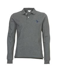 U.S. POLO ASSN. Gray Usa Collar Polo Shirt for men