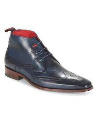 Jeffery West Blue Chukka Casual Shoes for men