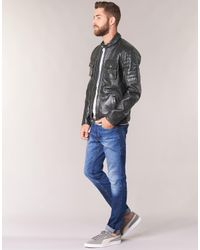Pepe Jeans Black Cinnamon Leather Jacket for men