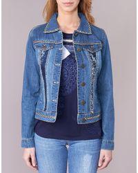 Desigual Blue Vientiere Denim Jacket