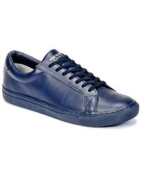 Hackett Blue Myf Stratton Shoes (trainers) for men