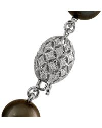 Splendid - Multicolor 14k 0.25 Ct. Tw. Diamond & 10.1-12.4mm Tahitian Pearl Necklace - Lyst