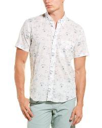 Billy Reid Blue Tuscumbia Regular Fit Shirt for men