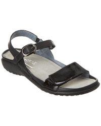 Naot Black Mozota Leather Sandal