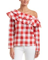 Haute Rogue Red One-shoulder Top