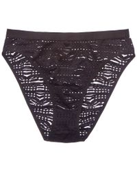 Cosabella - Black Bisou High Leg Bikini Bottom - Lyst