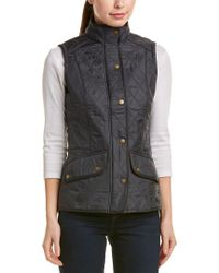 Barbour - Blue Cavalry Gilet - Lyst