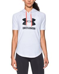 Under Armour White Sportstyle Hoodie