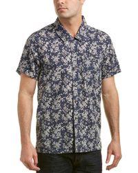 Blank NYC Blue Linen-blend Woven Shirt for men