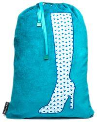 Melissa Beth Blue Boot Bag