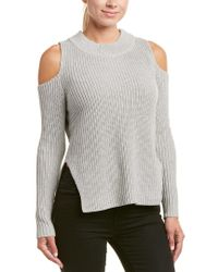 French Connection Gray Cold-shoulder Mozart Sweater