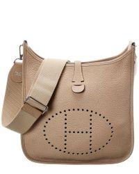 Hermès Natural Neutral Leather Evelyne Iii Pm